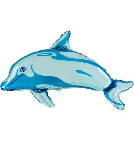 Delfin in blau