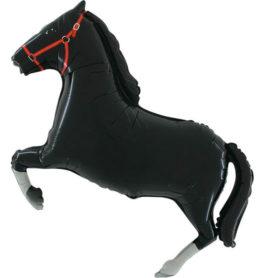 901625BFX38 Pferd in schwarz