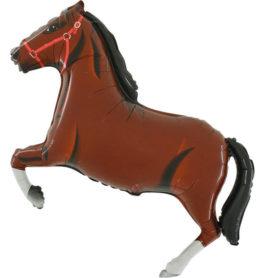 901625DBFX38 Pferd in dunkelbraun
