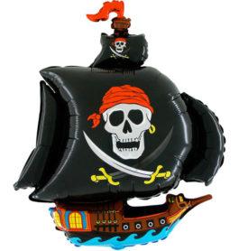 206SGR37 Piratenschiff schwarz