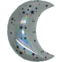 Mond Holographic silber