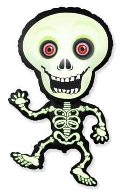 901792VEFX39 Skelett grün