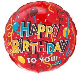 401501FX60 Happy Birthday – Geschenkband