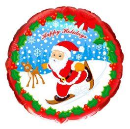 Santa mit  Schlittschuh