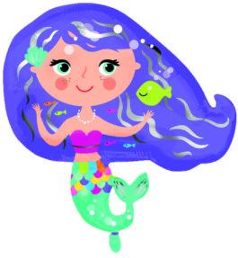 Bunte Meerjungfrau