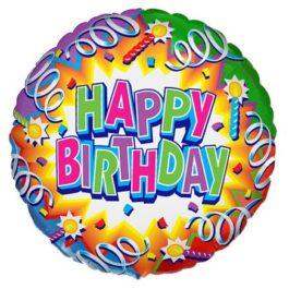401574FX60 Happy Birthday – Kerze