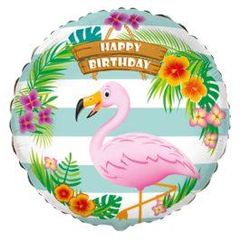 401591FX60 Happy Birthday – Flamingo