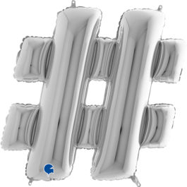 Buchstaben – # – silber