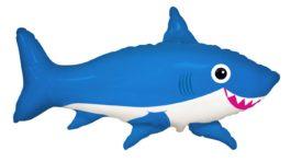 fröhliche Hai – blau