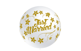 3FTP2053IBN Latexballons – Just Married 3FTW