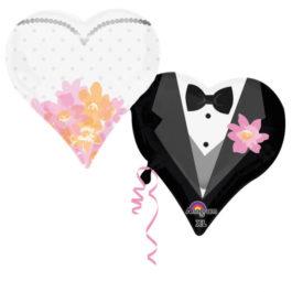 3084201P35AN Brautpaar Herzen