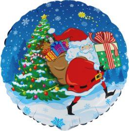 Santa mit Geschenk