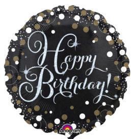 3406201ANS55 Happy Birthday –   Funkelnder Geburtstag