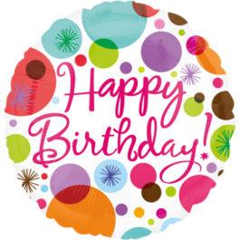 1816201ANS40 Happy Birthday – Punktmuster