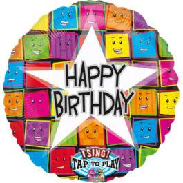 1264501ANP60 Happy Birthday –  Singender Gesichter