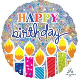2448101ANS40 Happy Birthday – Schimmernde Geburtstagskerzen