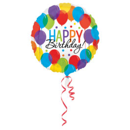 3211201ANS40 Happy Birthday – bunte Ballons
