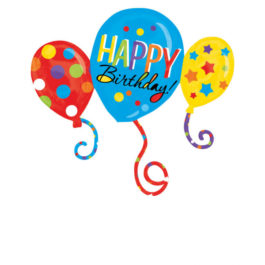 3211301ANP35 Happy Birthday –  Ballon Trio