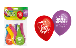 10″/HG2013BN Latexballons – Happy Birthday