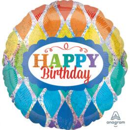 3356901ANS40 Happy Birthday –  Funkelnde Dreiecke