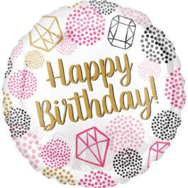 3962601ANS40 Happy Birthday –  Edelsteine