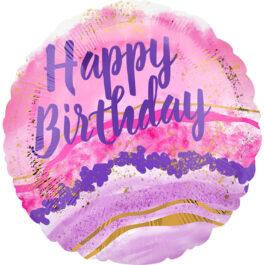 4128201ANS40 Happy Birthday – Wasserfarbe Marmor