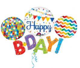 3122701ANP80 Multi Balloon Happy BDAY