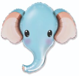 901805AFX38 Elefantenkopf blau